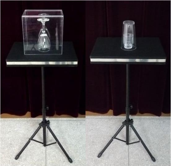 Coin in Glass and Glass Breaking Table/ Case & Table Base/Magic Tricks,mentalism,stage magic props,comedy glass breaking table with aluminium case magic table combination tricks stage gimmick illusions accessories mentalism