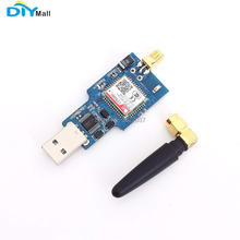DIYmall SIM800C USB to GSM Module Quad-band GSM/GPRS CH340T Chip with Bluetooth 2.4GHz Antenna Support SMS TTS sim800l v2 0 5v wireless gsm gprs module quad band sim board quad band with antenna cable cap for arduino