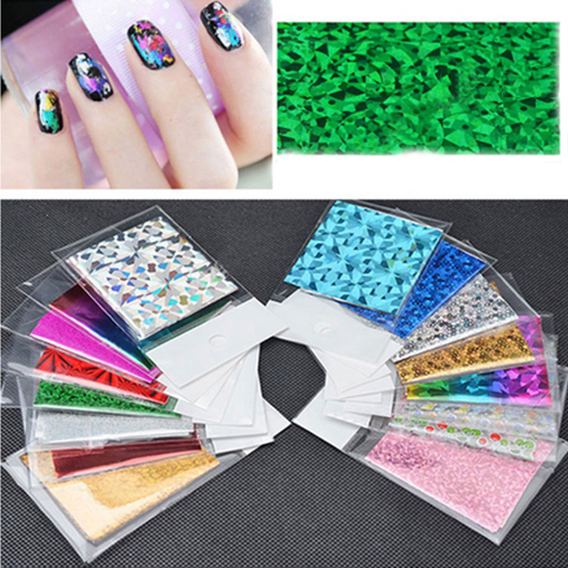 4cm 30cm Transfer Foil Nail Art Star Design Sticker Decal For Polish Care DIY Colorful Nail Art in Stickers Decals from Beauty Health