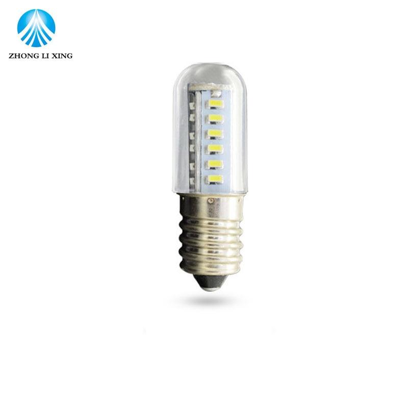 1x Ultra-small Mini E14 5W 25 LED lamps 220V SMD 3014 Crystal Corn Fridge Refrigerator light Indicator Chandelier Reading Tubes led gold deco chandelier bulbs candle light e14 85 265v 5w lamps