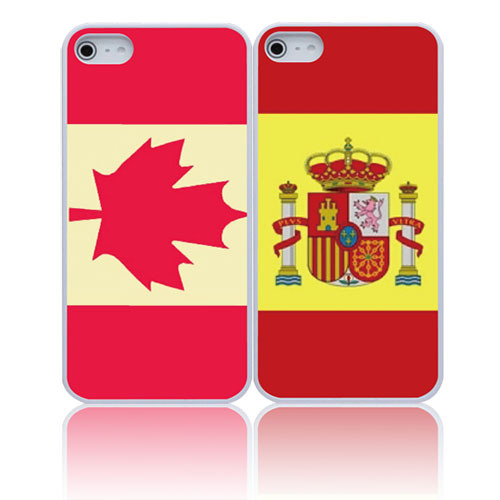 Hot Selling! Designer Cell Phone Case Skin For iPhone 5 International Flags Hard PC Case 10pc/lot Opp Packaging Free Shipping