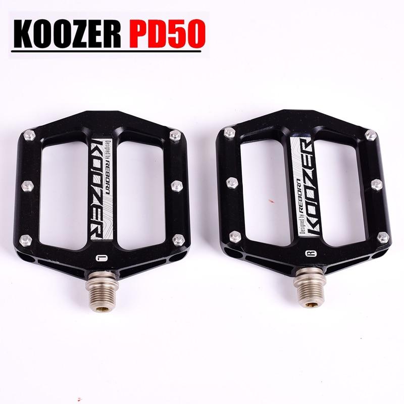 KOOZER 3colors Pedals CNC Flat Mountain Bike Pedal TR XC AM FR DH 3 Bearings