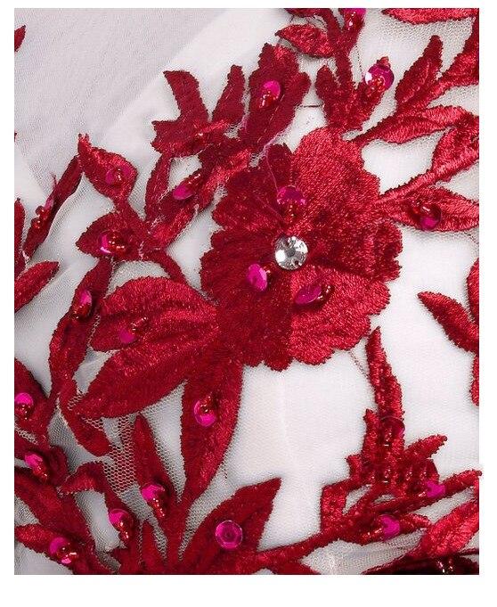 Grande taille 6XL élégant bleu rouge perle dentelle mousseline De soie robes longues pour fête d'été robe formelle 2019 Maxi robes robes De Festa - 6
