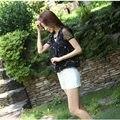 2016 Nuevo Estilo de Verano Gasa de Las Mujeres Blusas ShirtsKorean Moda Elegante Crochet Bordado Más El Tamaño de Moda de Señora D616