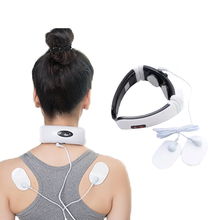 Electric Pulse Back an Neck Massager ems Far Infrared Heating Pain Relief Tool Health Care  physical magnetic therapy