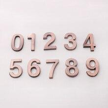 0-9 ABS пластиковые цифры самоклеющиеся дома табличка адрес знак номер двери стикер с цифрами цифры отель дверная табличка
