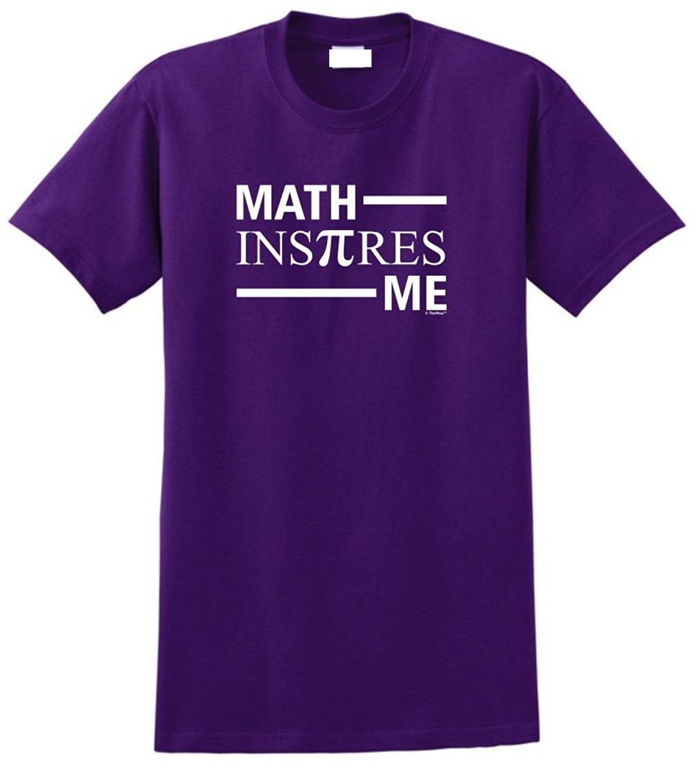 Family T Shirts Print Math Inspires Me Spelled With Pi Day Stem Crew Neck Short Sleeve Tee For Men