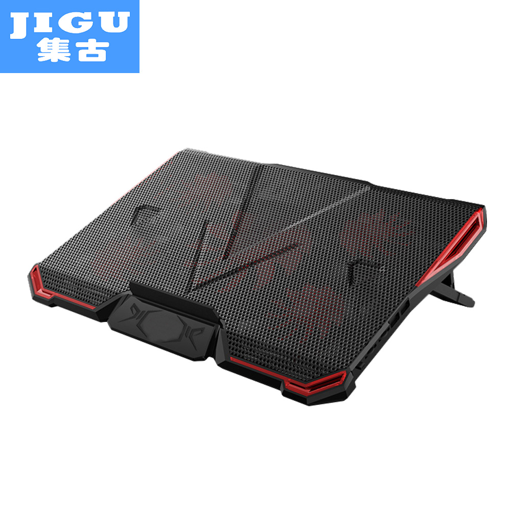 JIGU 5 FAN 2 USB Laptop Cooling Pad Adjustable Notebook Cooler +Holder for 12-17' Laptop usb fan 3 fan usb powered aluminum laptop cooling pad