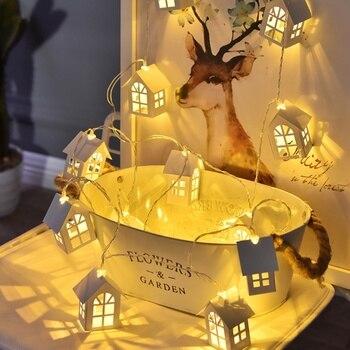 bb2716642de Árbol de Navidad de la casa de estilo LED luz cadena boda guirnalda de la  Navidad Año Nuevo Navidad Decoración