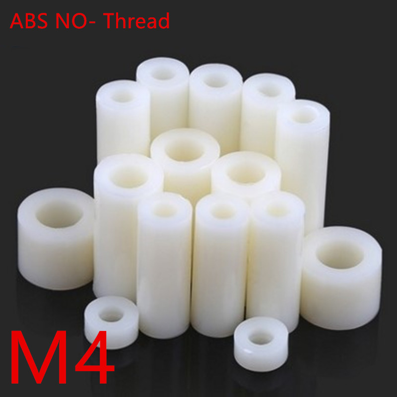 50pcs M4*2/3/4/5/6/7/8/9/10/11/12/13/14/15 ABS Rround spacer standoff White Nylon Non-Threaded Spacer Round Hollow Standoff 20pcs m3 copper standoff spacer stud male to female m3 4 6mm hexagonal stud length 4 5 6 7 8 9 10 11 12mm