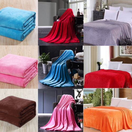 New Luxurious Warm Large Soft Fleece Blanket Home Bed Sofa Throws