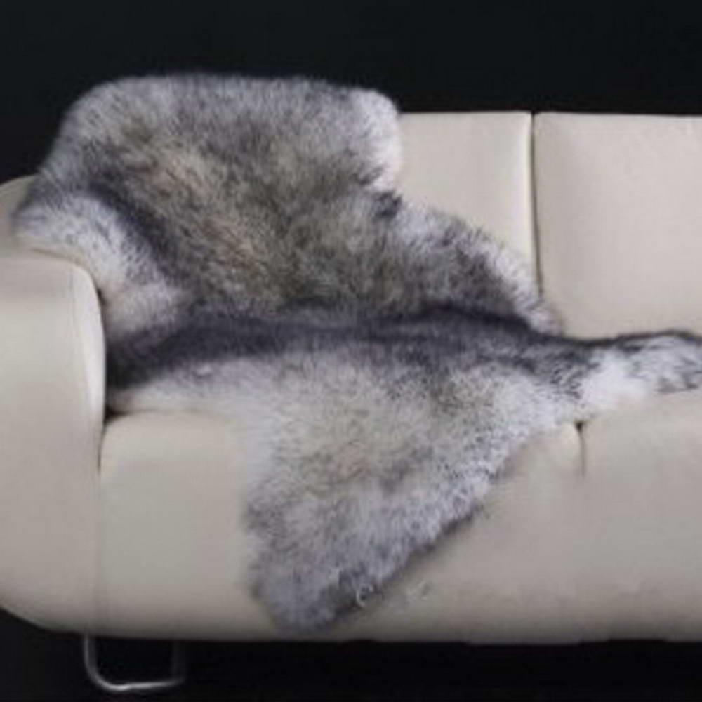 65x100 cm tapis en peau de mouton australien tapis de peau de fourrure naturelle pour canapé salon