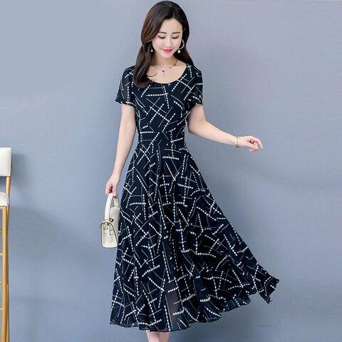 Women Short Sleeve Dresses Print Summer Dress 2019 Fashion Casual Summer Dress Multan
