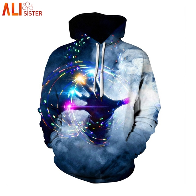 b2667273aa4f8 Alisister Galaxy Space 3d Print Hoodies Men s Sweatshirt Women Plus Size  Harajuku Hip Hop Pullover Streetwear Clothing Masculino