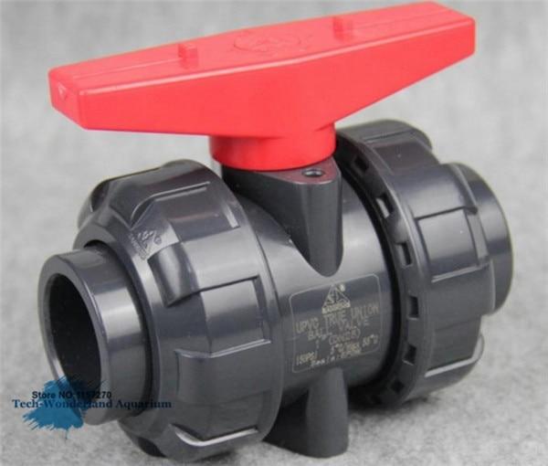 High Quality PVC True Union Ball Valve For Aquarium Fish Tank Filter 20/25/32/40/50mm 1PC