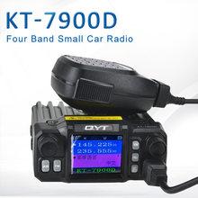 Nova chegada qyt KT-7900D quad band/quad display 144/220/350/440 mhz rádio móvel 25 watts grande display lcd kt7900d walkie talkie