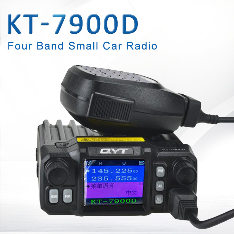 New Arrival QYT KT-<font><b>7900D</b></font> Quad Band/ Quad Display 144/220/350/440MHz Mobile Radio 25Watts Large LCD Display KT7900D Walkie Talkie image