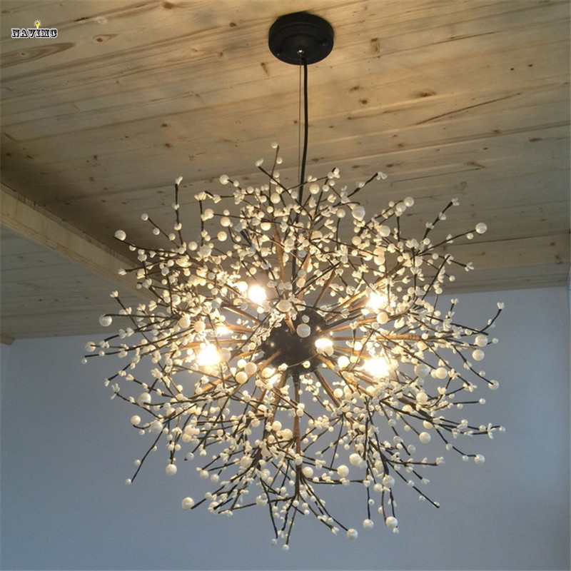 Modern Firework LED Pendant Light Clear Crystal Hanging Pendant Lamp for Dining Room Restaurant Living room Entryway Coffee Bar modern crystal chandelier led hanging lighting european style glass chandeliers light for living dining room restaurant decor