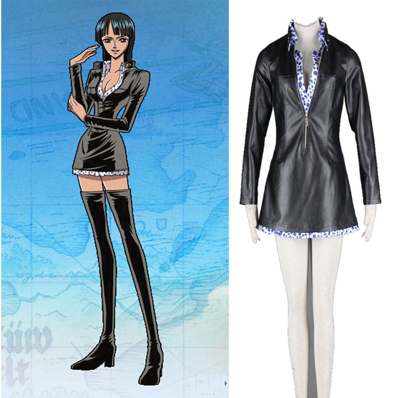 One Piece Robin Nico Cosplay Costume Blue Dots and Pink Dots
