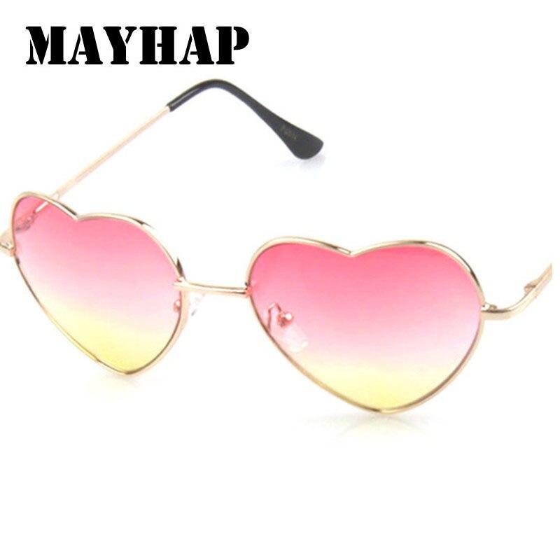 9ab6cd60b Best buy MAYHAP Fashion beautiful Heart Shaped Sunglasses Women brand  designer metal Reflective Sun Glasses Men Mirror oculos de sol online cheap