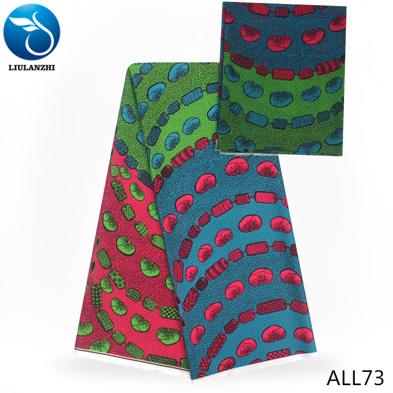 LIULANZHI African stretch fabric design print model fabric 4 2 yards lot for garment ALL73 80 in Fabric from Home Garden