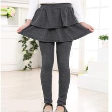 Леггинсы для девочек на весну-осень г. Новые хлопковые мягкие черные однотонные удобные детские штаны теплые брюки леггинсы для девочек, одежда Ls028