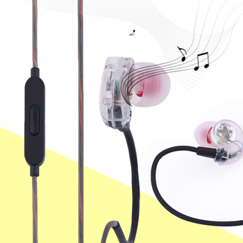 KY-111 High-Fidelity Sound Universal Sport Running Earphone Noise Isolation Wired Control In Ear Earphone With Microphone