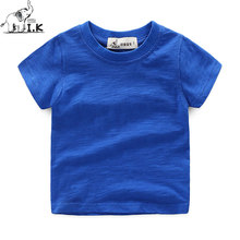 I.K Baby Boys T-Shirts Bobo Choses 2017 Summer Cotton Short Sleeves Children Clothing Solid White Tops Brand Tees 2-6year A1026