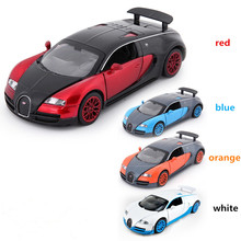 In Stock Bugatti Veyron coches jugetes Diecast Car Model autos a escala Pull Back Toy Cars