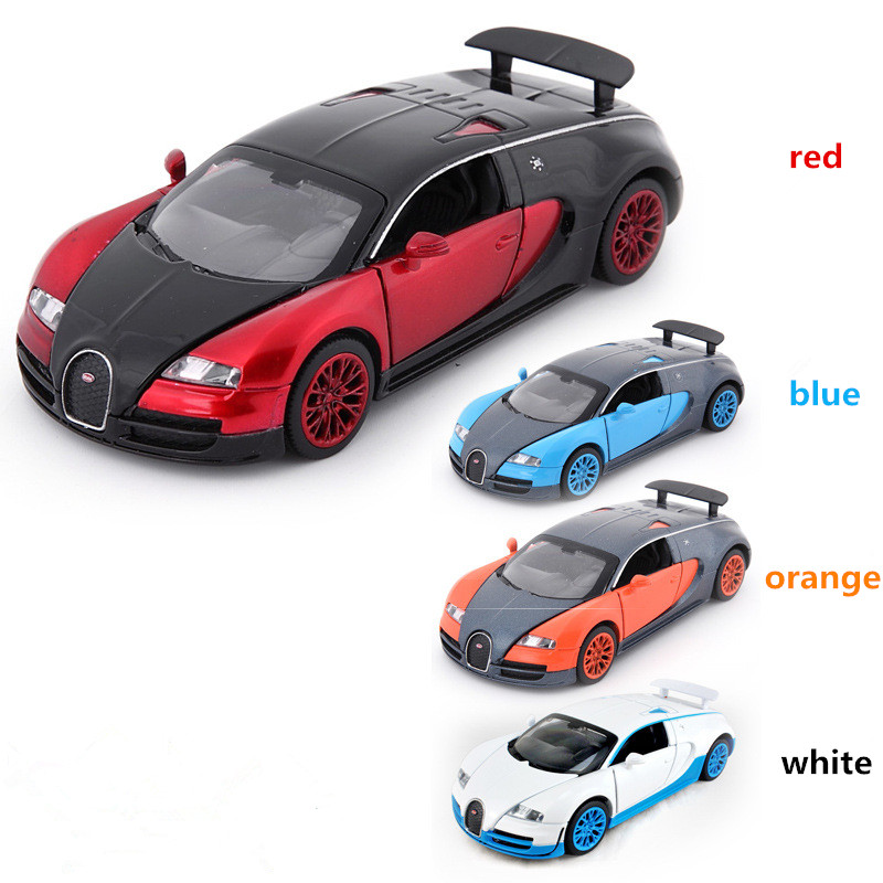 In Stock Bugatti Veyron coches jugetes Diecast Car Model autos a escala Pull Back font b