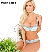 2017 Brand Lace Embroidery Bra Set Women Plus Size Push Up Underwear Set Bra Transparent Sexy Panty Set For Female Bow Sexy Bra