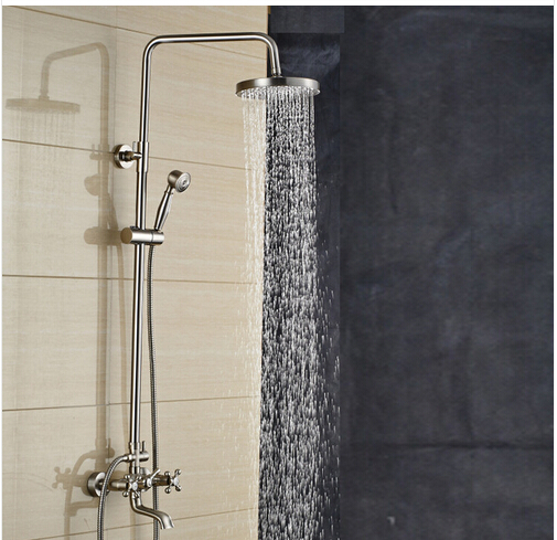 Brushed Nickel Showerhead And Faucet Tyres2c