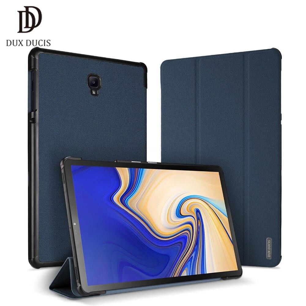 DUX DUCIS Étui En Cuir pour Samsung Galaxy TAB S4 Intelligent De Protection PU Flip Couverture pour Samsung TAB S4 10.5 pouce t830 T835 2018 Nouveau