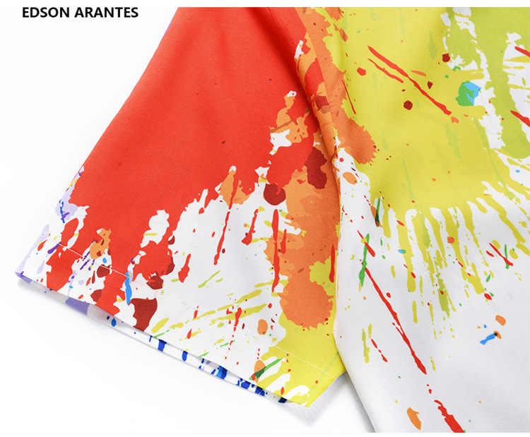 Funky мужская летняя рубашка для мужчин s Geek 3d всплеск чернил печати Regular Fit Гавайские рубашки человек короткий рукав пуговицы подпушка пляжные Мужская рубашка навыпуск с ярким рисунком