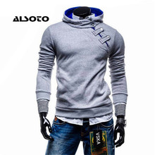2017 Men's Fashion Hoody Hoodies and Sweatshirts High Quality Side Button Design Sportswear 4 Colors