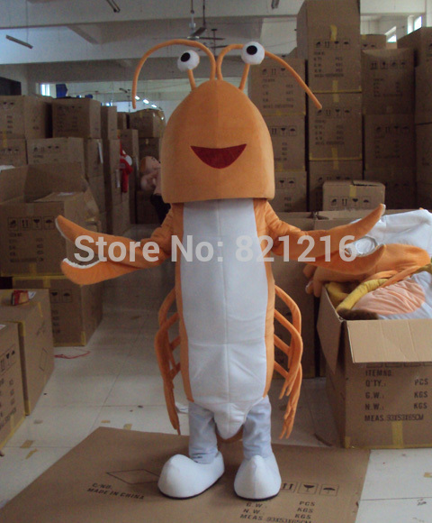 Free Shipping Lobster Langouste Mascot Costume Cartoon Character Costume