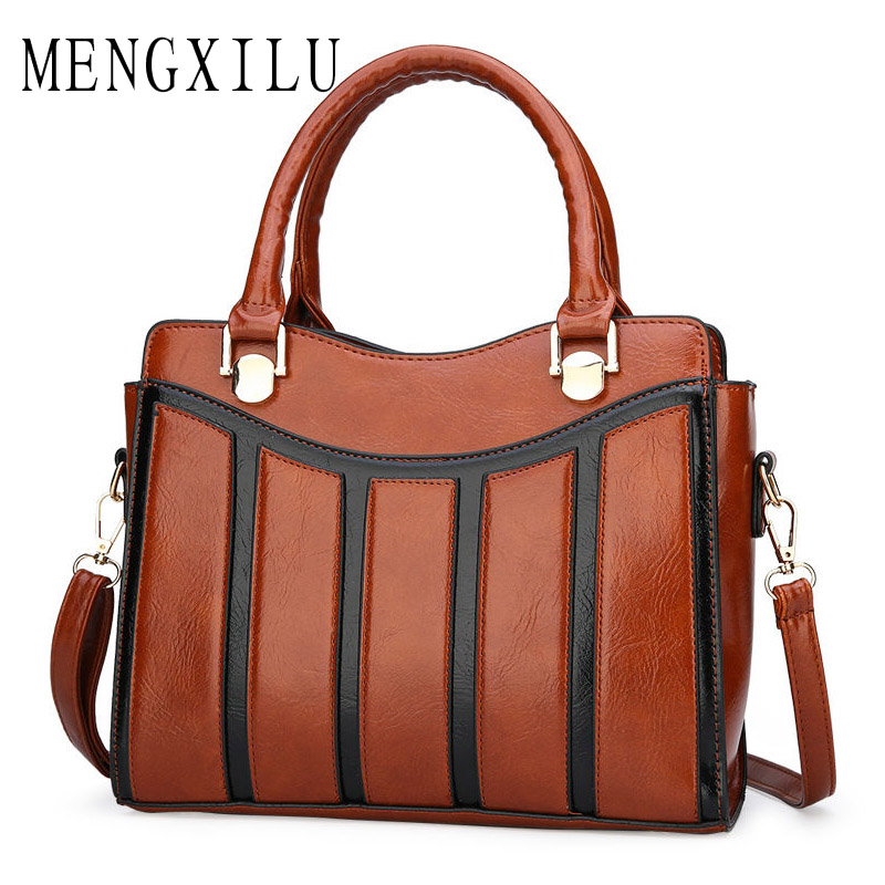 2019 Hot Women Pu Leather Handbags Luxury Female Vintage Boston Stripe Crossbody Tote Bag Ladies Shoulder Bags Bolsa Feminina цена
