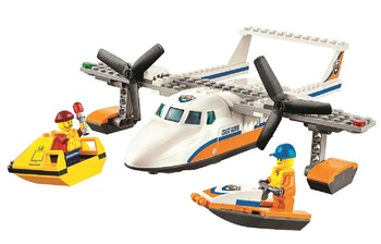 10751 City Coast Guard Sea Rescue Plane building blocks DIY Educational bricks toy gift for children Compatible with 60164 1