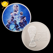 Чемпион Кубка мира французская футбольная команда памятная монета 21-й чемпионат мира по футболу Hercules коллекционные монеты Honor