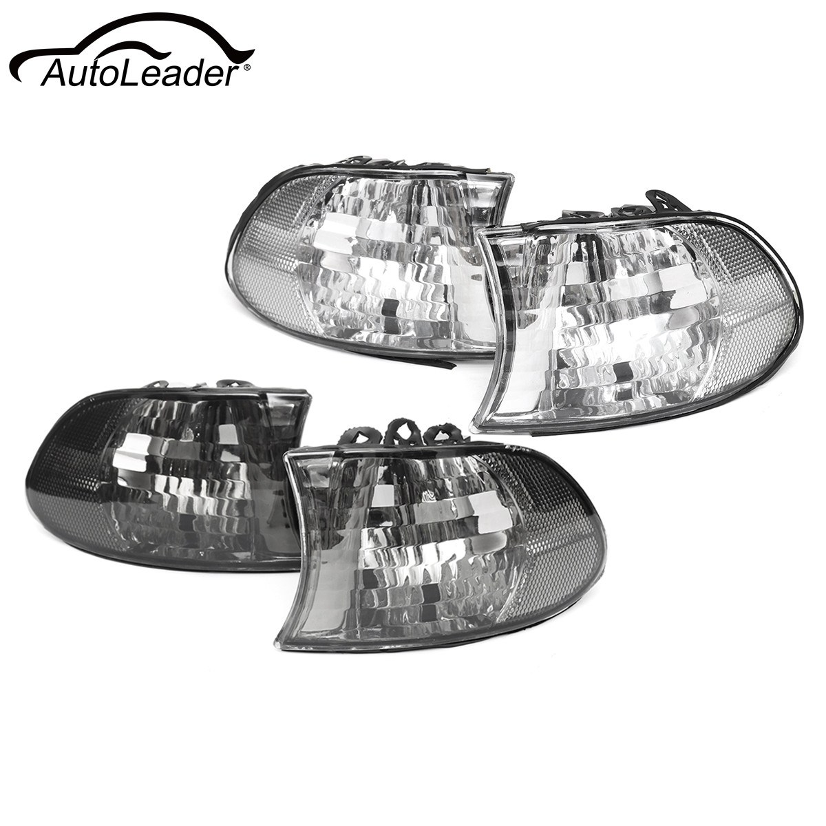 Pair Car Corner Light Left+Right Side Lamps For BMW 7 Series E38 1999 2000 2001 Clear Smoked 2pcs right left fog light lamp for b mw e39 5 series 528i 540i 535i 1997 2000 e36 z3 2001 63178360575 63178360576