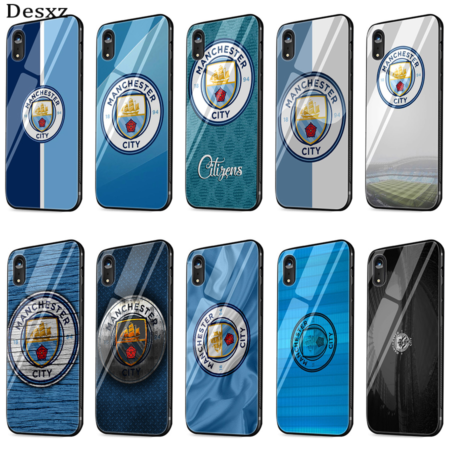 Gerleek Manchester City Glass Case For IPhone 6 6s 7 8