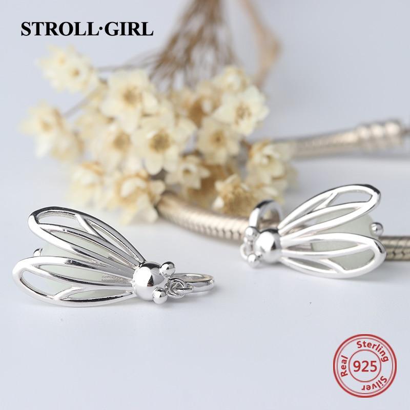 silver 925 Firely glowing animal Charms Fit Pandora armband DIY mode - Märkessmycken - Foto 5