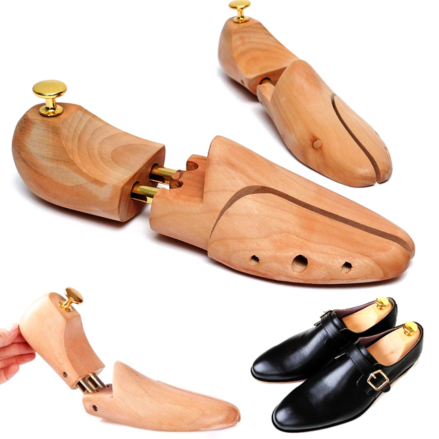 Enipate Wooden Double Tube Reducer Shoes Adjustable Wrinkle Proof  Deformation Of The Shoes Support The