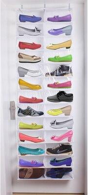 Lesort Over Door Hanging Shoe Organizer Varastointilaitteen lajittelija 26 parin kengät Rack Hanger Storage Organizer