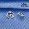Moissanites 0.33ct Certified 4.5mm forma redonda sintético pedra solta beads para fazer jóias preço de varejo