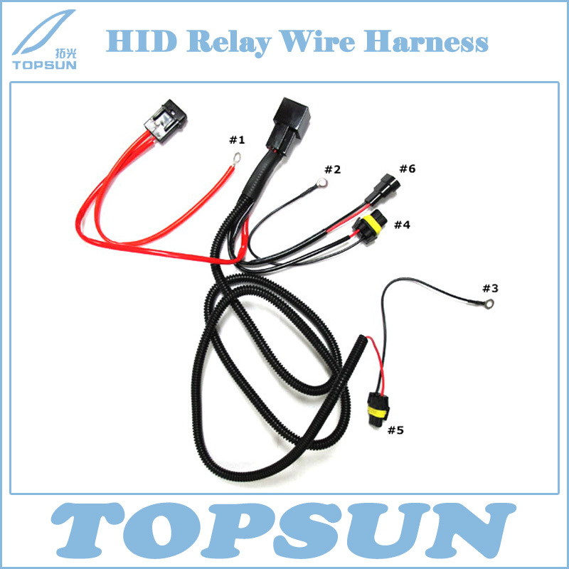 H1 H3 H4 H7 H11 9005 9006 HID Conversion Kit Relay Wire Harness aliexpress com buy h1 h3 h4 h7 h11 9005 9006 hid conversion kit h7 wire harness at eliteediting.co