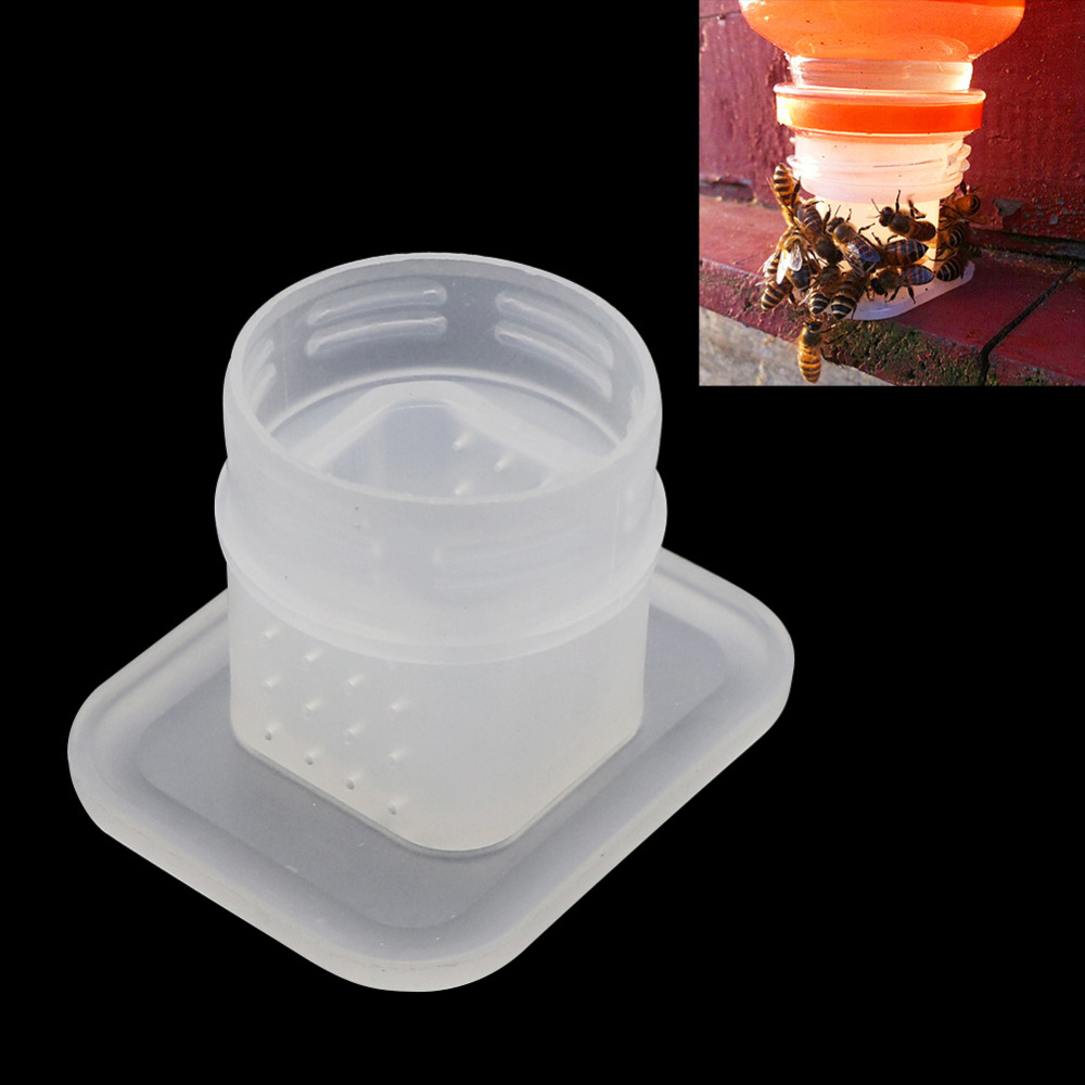 Bee Feeder Drinking Fountain Bee Queen Bee Drinking Water Equipment Easy Installation For Cola Bottle Beekeeping Tools 3 Pcs