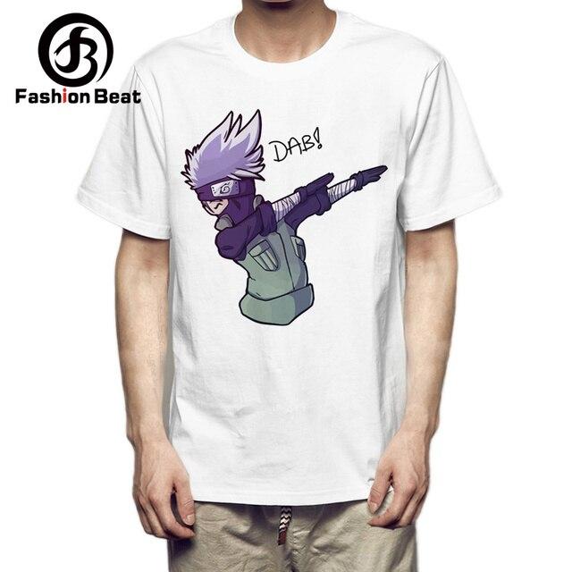 Fashionbeat Funny Naruto Kakashi T Shirts Dab Street Casual Style