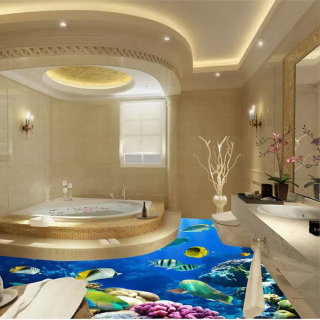 Dolphin Bathroom Tiles: 800x800mm 3D Innovation Cute Dolphin Bathroom Ceramic