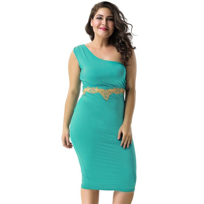 Cheap Wedding Dresses Kc: PANJOINER One Shoulder Plus Size L XL 2XL Women Bodycon